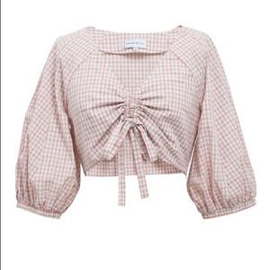 J.O.A. x Chriselle Ruched Front Crop Top